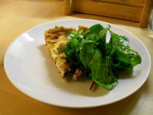 Italian ham and spinach tart