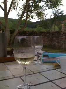 Cold fresh wine, Givry, Dijon, France
