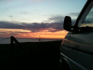 Sunset over Abbotsbury, Dorset