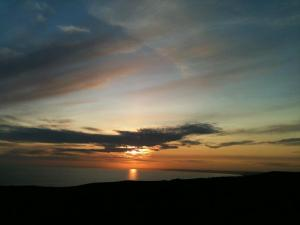 Sunset over Abbotsbury, Dorset