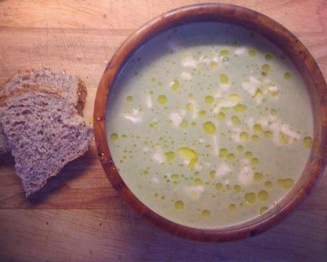 Pea Soup with Feta