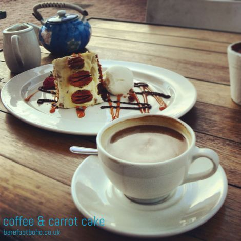 coffee and carrot cake